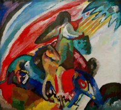 """Wassily Kandinsky """"Improvisation Der Reiter"""" 106 x 97 cm"""