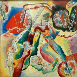 "Wassily Kandinsky ""Bild Mit Rotem Fleck"" 130 x 130 cm"