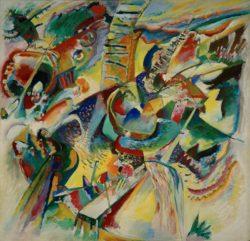 "Wassily Kandinsky ""Improvisation Klamm"" 110 x 110 cm"