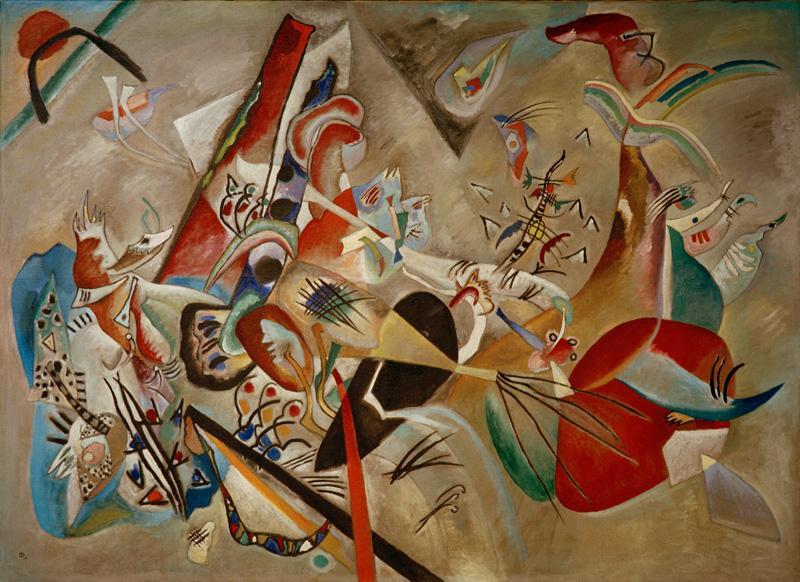 """Wassily Kandinsky """"Im Grau"""" 176 x 129 cm"""