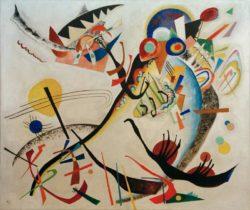 "Wassily Kandinsky ""Blaues Segment"" 140 x 120 cm"