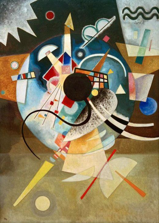"""Wassily Kandinsky """"Ein Zentrum"""" 99 x 140 cm 1"""