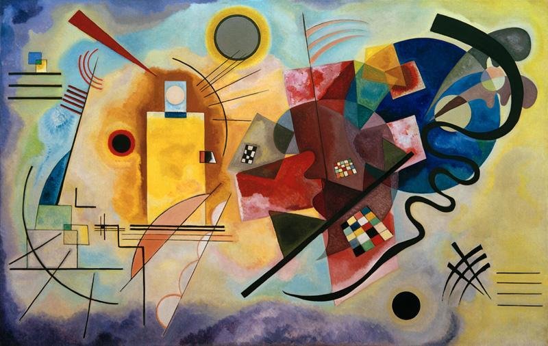 "Wassily Kandinsky ""Gelb Rot Blau"" 201 x 128 cm"