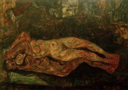 """Egon Schiele """"Liebespaar"""" 210 x 155 cm"""