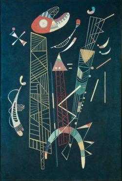 "Wassily Kandinsky ""Construction Legere"" 50 x 72 cm"
