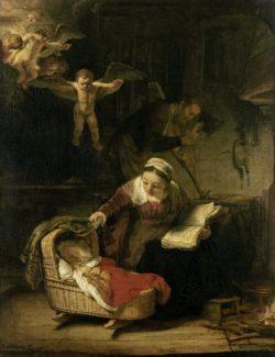 "Rembrandt ""Die-heilige-Familie"" 80 x 60 cm"