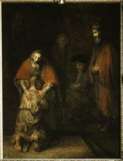 """Rembrandt """"Die-Heimkehr-des-verlorenen-Sohnes"""" 39 x 42 cm"""