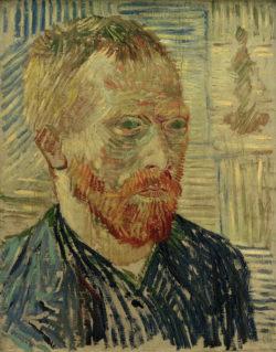 """Vincent van Gogh """"Selbstbildnis mit japanischem Holzschnitt"""" 43 x 34 cm"""