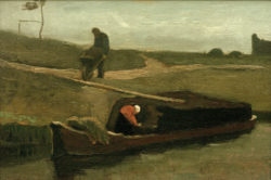 """Vincent van Gogh """"Torfboot mit zwei Figuren"""", 37 x 55,5 cm"""