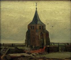 """Vincent van Gogh """"Der alte Turm auf dem Kirchhof zu Nuenen"""" 47,5 x 55 cm"""