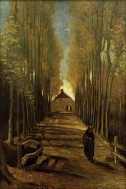 """Vincent van Gogh """"Pappelallee im Herbst"""" 98,5 x 66 cm"""