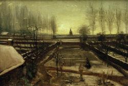 "Vincent van Gogh ""Der Pfarrgarten in Nuenen im Schnee"", 53 x 78 cm"