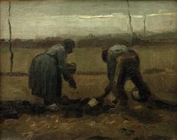 """Vincent van Gogh """"Kartoffelsetzen"""" (Bauer und Baeuerin beim Kartoffelstecken 33 x 41 cm"""