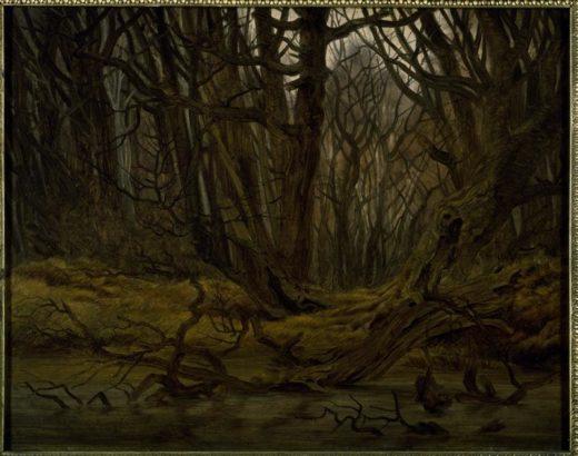 """Caspar David Friedrich """"Wald im Spätherbst""""  44 x 35 cm 1"""