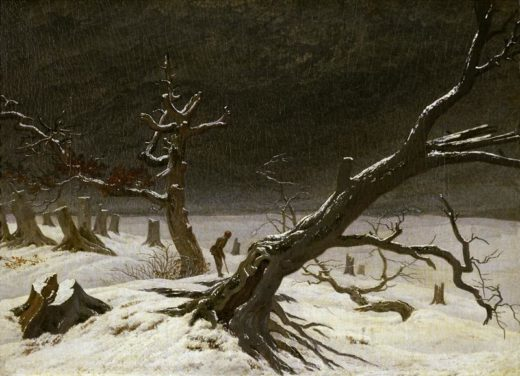 "Caspar David Friedrich ""Winterlandschaft""  35 x 32 cm 1"