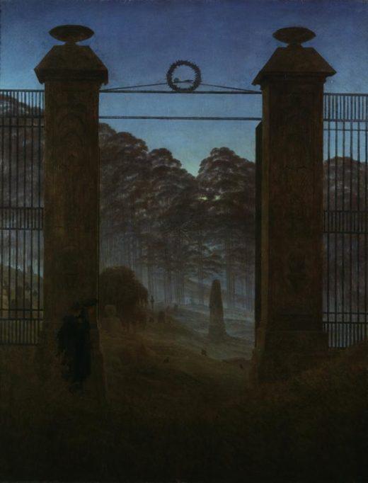 "Caspar David Friedrich ""Der Friedhof""  111 x 144 cm 1"