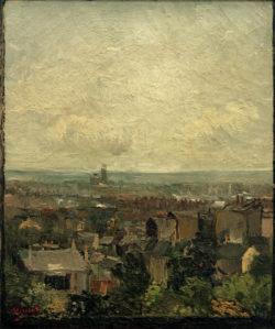 """Vincent van Gogh """"Blick auf die Daecher von Paris"""", 45,6 x 38,5 cm"""