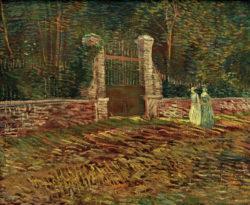 """Vincent van Gogh """"Eingang zum Park Voyer d'Argenson in Asnières"""" 54,6 x 66,8 cm"""