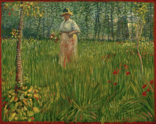 """Vincent van Gogh """"Frau in einem Garten"""" 48 x 60 cm 1"""
