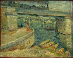 """Vincent van Gogh """"Die Bruecken von Asnières"""" 53,5 x 67 cm"""