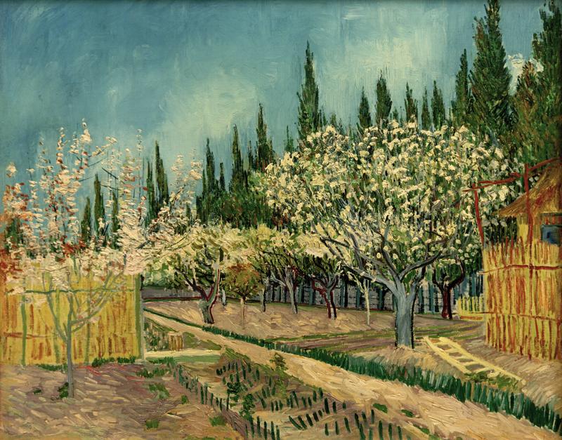 """Vincent van Gogh """"Bluehender Obstgarten 64,9 x 81,2 cm"""