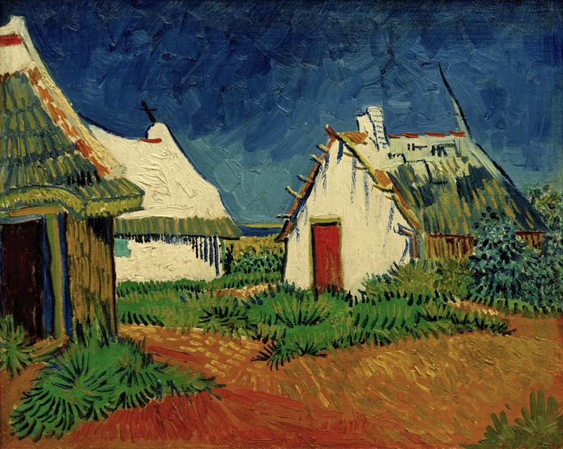 "Vincent van Gogh ""Drei weiße Huetten in Saintes-Maries"", 33,5 x 41,5 cm"