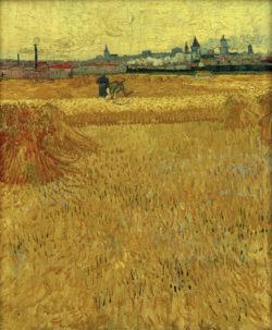 """Vincent van Gogh """"Weizenfeld mit Blick auf Arles"""", 73 x 59 cm"""
