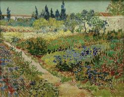 """Vincent van Gogh """"Bluehender Garten mit Pfad"""", 72 x 92 cm"""
