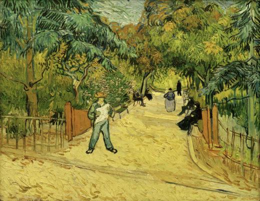 """Vincent van Gogh """"Eingang zum Park in Arles mit Spaziergaengern"""" 72,5 x 91 cm 1"""