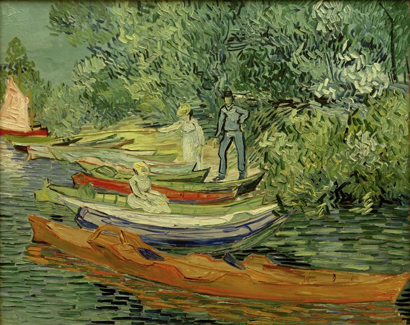 """Vincent van Gogh """"Am Ufer der Oise in Auvers"""" 73,3 x 93,7 cm"""