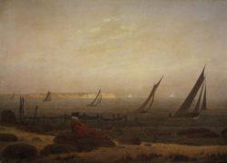 """Caspar David Friedrich """"Frau am Meer""""  29 x 21 cm"""