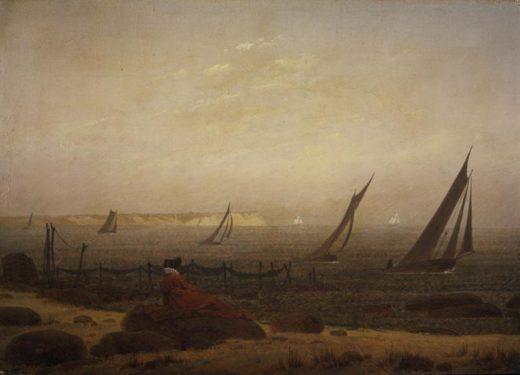 """Caspar David Friedrich """"Frau am Meer""""  29 x 21 cm 1"""
