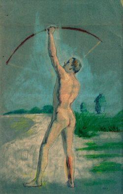 """August Macke """"Bogenschütze"""" 29 x 45 cm"""
