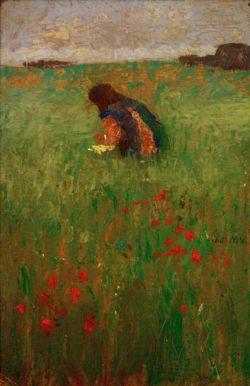 "August Macke ""Kind in Wiese"" 19 x 30 cm"