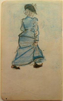 """August Macke """"Frau auf der Straße I"""" 12 x 19 cm"""