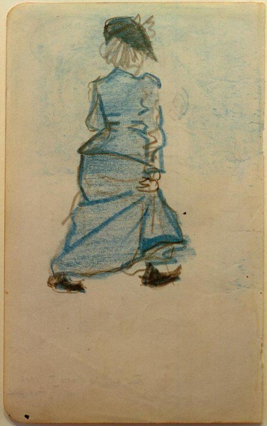 """August Macke """"Frau auf der Straße I"""" 12 x 19 cm 1"""
