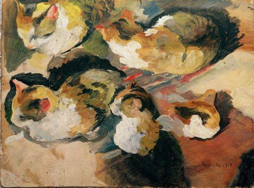 """August Macke """"Katzenstudien"""" 22 x 16 cm 1"""