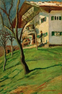 """August Macke """"Unser Häuschen in Tegernsee"""" 20 x 30 cm"""