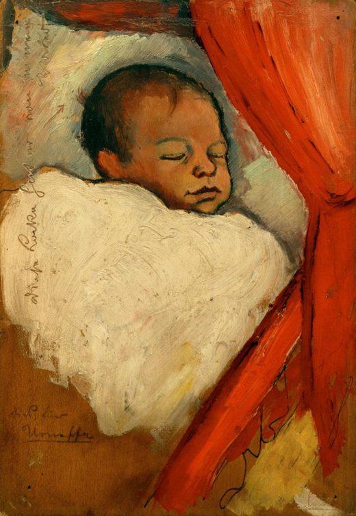 "August Macke ""Walter, drei Tage alt"" 16 x 22 cm 1"