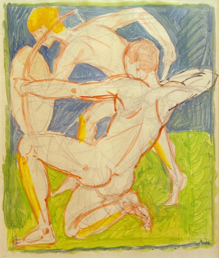 """August Macke """"Bogenschütze"""" 20 x 26 cm"""