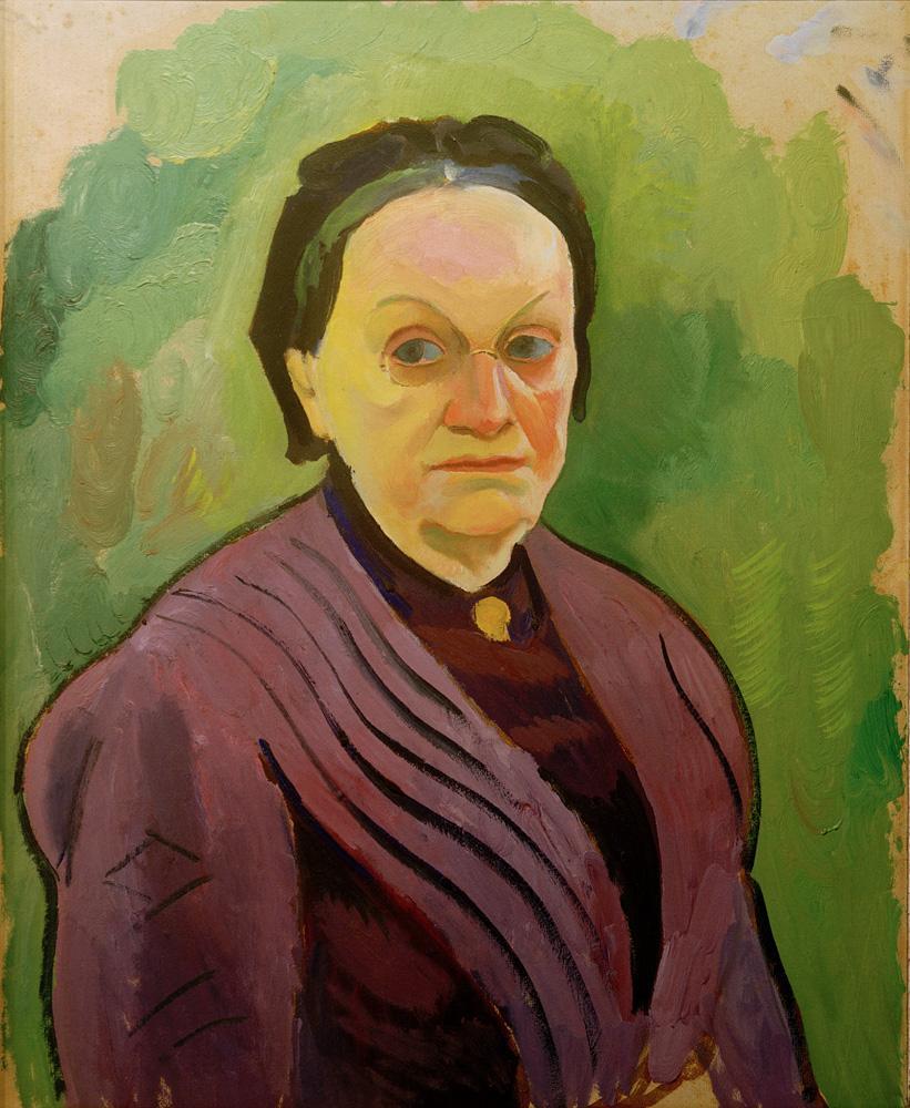 """August Macke """"Porträtstudie Katharina Koehler"""" 49 x 61 cm"""