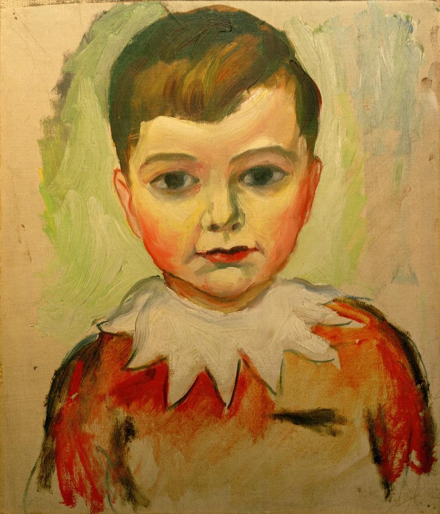"""August Macke """"Walter mit Spitzenkragen"""" 32 x 35 cm"""