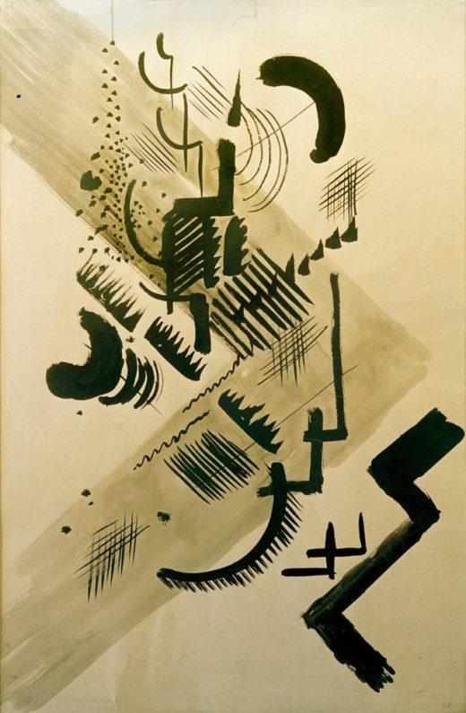 "August Macke ""Formen I"" 36 x 54 cm 1"