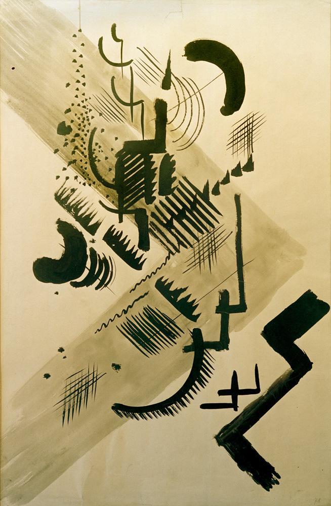 "August Macke ""Formen I"" 36 x 54 cm"