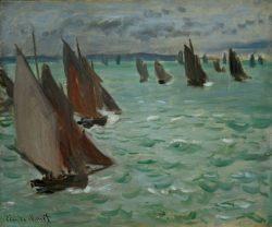 "Claude Monet ""Segelboote auf dem Meer"" 61 x 50 cm"