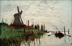 """Claude Monet """"Windmühle in Zaandam"""" 75 x 48 cm"""