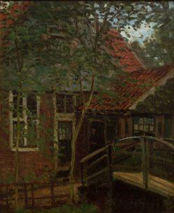 """Claude Monet """"Kleine Brücke in Holland  Zaandam"""" 38 x 47 cm"""