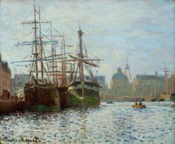 """Claude Monet """"Das Hafenbecken von Le Havre"""" 46 x 38 cm"""