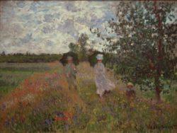 """Claude Monet """"Spaziergang bei Argenteuil"""" 81 x 60 cm"""
