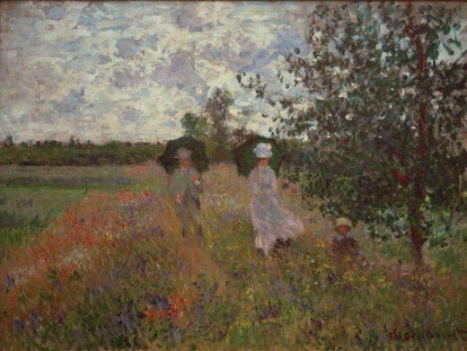 """Claude Monet """"Spaziergang bei Argenteuil"""" 81 x 60 cm 1"""